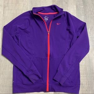 Nike Dri-Fit Purple Zip Up Jacket